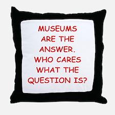 museums Throw Pillow