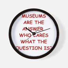 museums Wall Clock