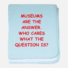 museums baby blanket