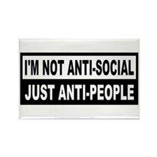 Anti-Social Anti-People Rectangle Magnet
