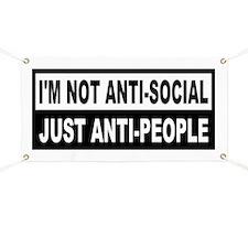 Anti-Social Anti-People Banner