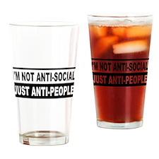 Anti-Social Anti-People Drinking Glass