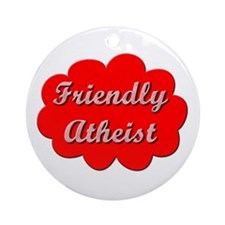Friendly Atheist Ornament (Round)