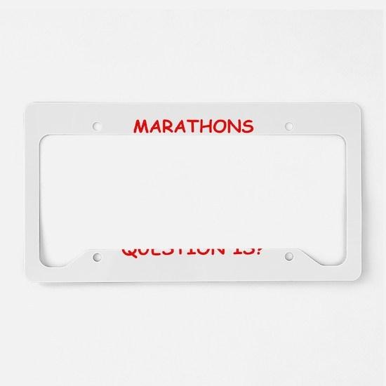MARATHON License Plate Holder