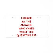 horror Aluminum License Plate