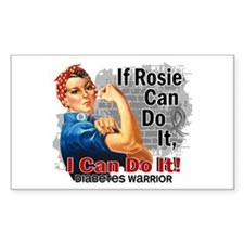 If Rosie Can Do It Diabetes Decal