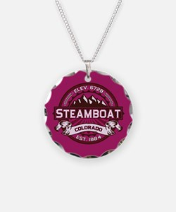 Steamboat Raspberry Necklace