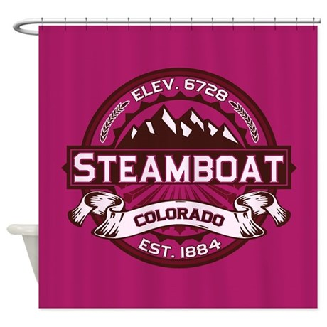 Steamboat Raspberry Shower Curtain