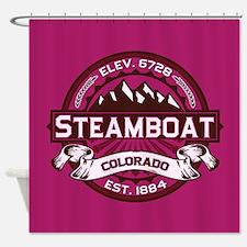 Steamboat Raspberry Shower Curtain
