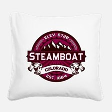 Steamboat Raspberry Square Canvas Pillow