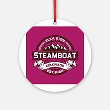 Steamboat Raspberry Ornament (Round)
