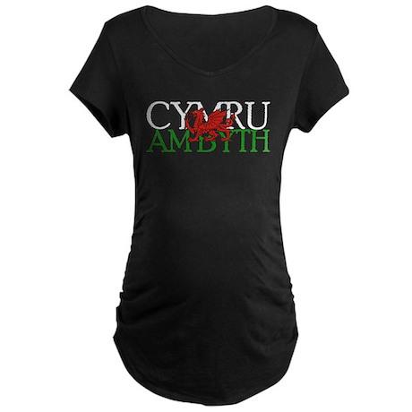 Cymru Am Byth Maternity Dark T-Shirt