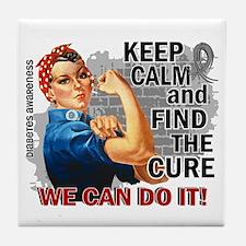 Rosie Keep Calm Diabetes Tile Coaster