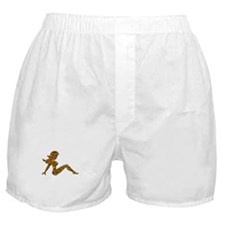 Animal Print Trucker GIrl Boxer Shorts