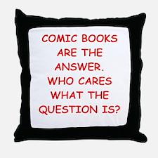 comic books Throw Pillow