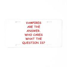 VAMPIRES Aluminum License Plate