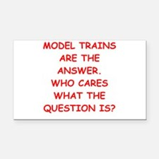 model trains Rectangle Car Magnet