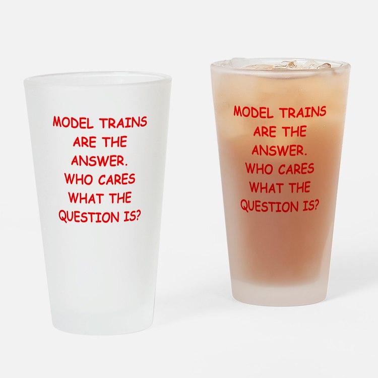 model trains Drinking Glass