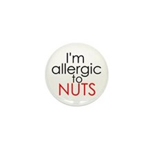 Allergic to nuts Mini Button (10 pack)
