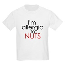 Allergic to nuts Kids T-Shirt