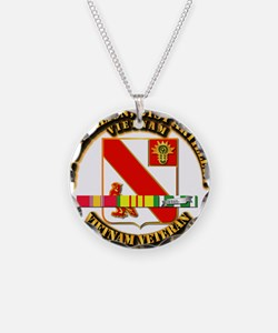 Army - 1-21 ARTY w Vietnam SVC Ribbons Necklace
