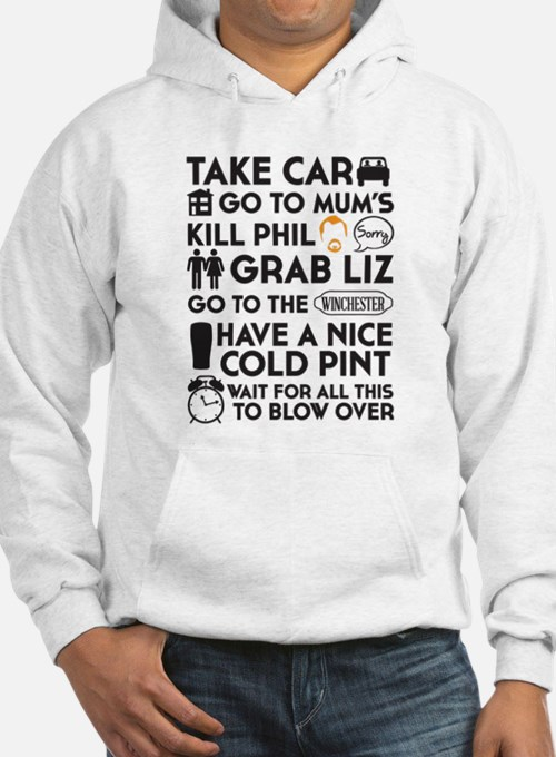 SHAUN OF THE DEAD TO DO LIST 3 Hoodie