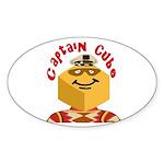 Captain Cube Oval Sticker