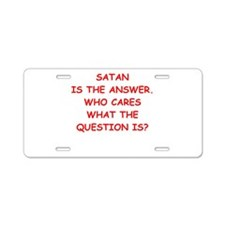 satan Aluminum License Plate