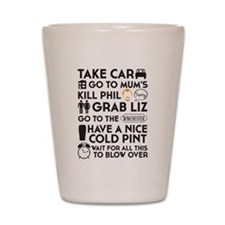 SHAUN OF THE DEAD TO DO LIST Shot Glass