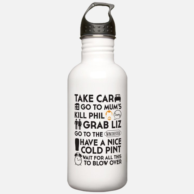 SHAUN OF THE DEAD TO DO LIST Water Bottle