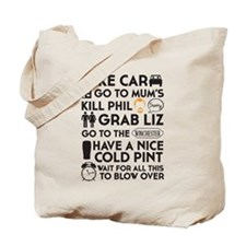 SHAUN OF THE DEAD TO DO LIST Tote Bag
