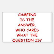 camping Decal