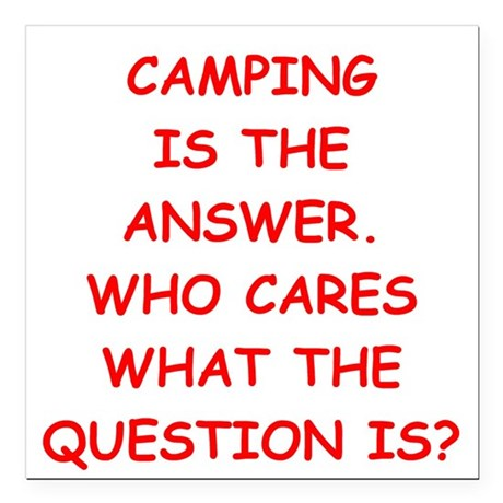 "camping Square Car Magnet 3"" x 3"""