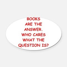 books Oval Car Magnet