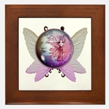 Winged Globe with Fairy Framed Tile