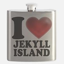 I Heart Jekyll Island Flask