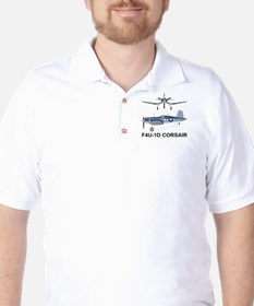 F4U Corsair Pappy Boyington Black Sheep Golf Shirt