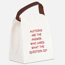 auction Canvas Lunch Bag