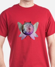 Winged Globe with Fairy T-Shirt