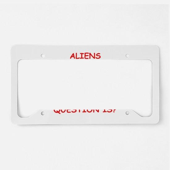 aliens License Plate Holder