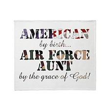 AF Aunt by grace of God Throw Blanket