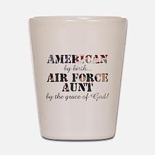 AF Aunt by grace of God Shot Glass