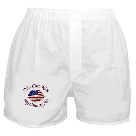 You Can Kiss My Country Ass Boxer Shorts
