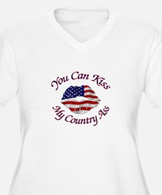 You Can Kiss My Country Ass Plus Size T-Shirt