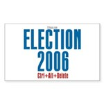 Election 2006 Reboot Rectangle Sticker