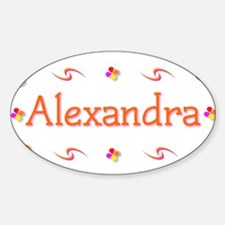Alexandra 1 Sticker (Oval)