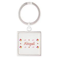 Abigail 1 Square Keychain