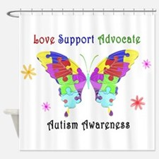 Autism Butterfly Shower Curtain
