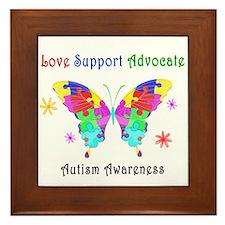 Autism Butterfly Framed Tile