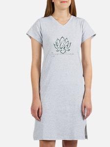 Buddha Lotus Flower Peace quote Women's Nightshirt